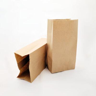 Bolsas de papel Kraft 2lb (10cm x 21cm x 6cm) – Paquete de 20 unidades