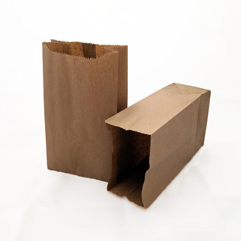 Bolsas de papel Kraft 6lb (15cm x 28.5cm x 10cm) – Paquete de 20 unidades