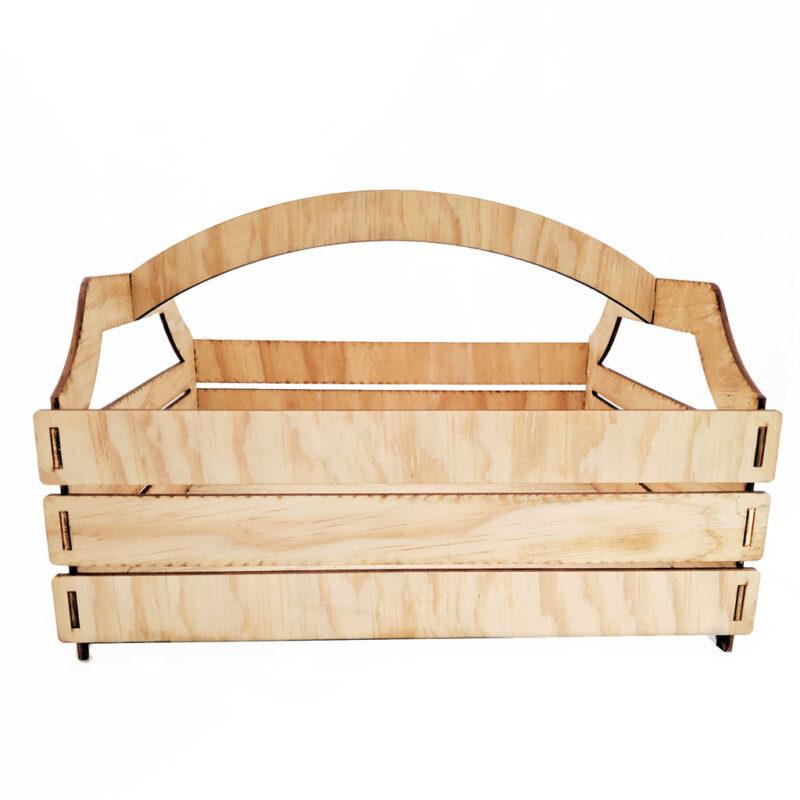Canasta de compras ligera y grande hecha de madera