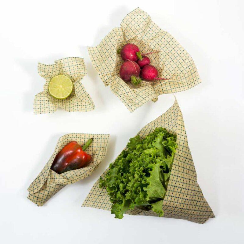 Envoltorios a base de cera de abeja – Paquete de 4 piezas – Bowo