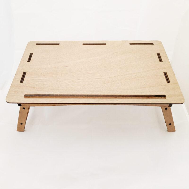 Escritorio / Mesita Portátil plegable ´Lap Desk´ para Laptop ligera, grande y hecha de madera