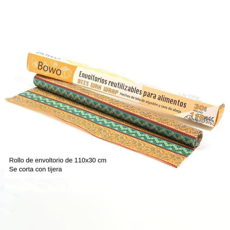 Envoltorios a base de cera de abeja – Rollo de 30cm ancho – Bowo