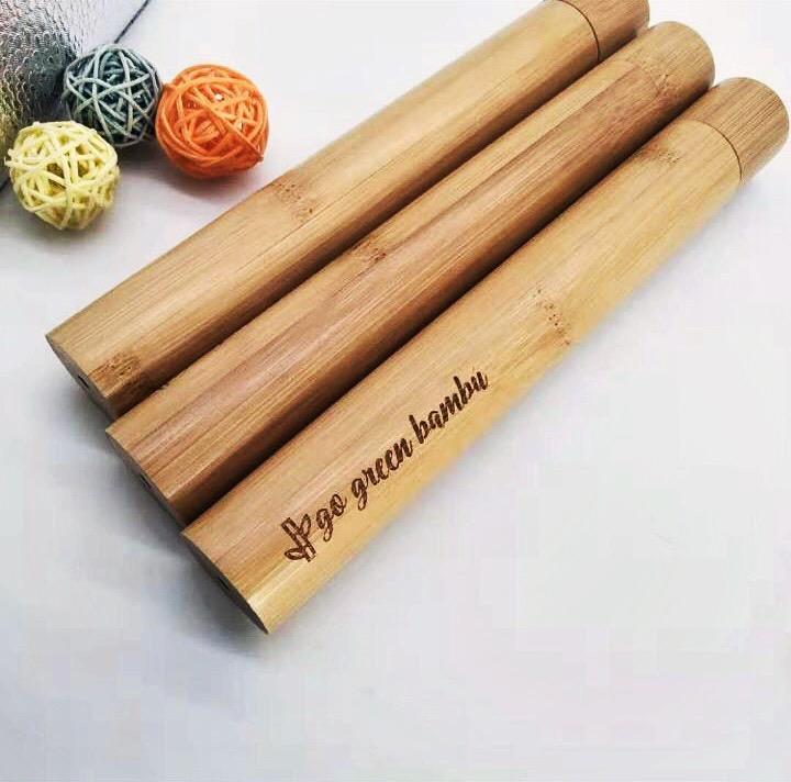 Estuche de Bambú para cepillos de dientes o/y pajillas – Go Green Bambú