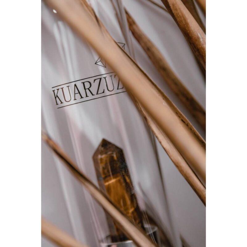 Botella con cuarzo Ojo de Tigre – Equilibrio, fuerza y seguridad – Kuarzuz