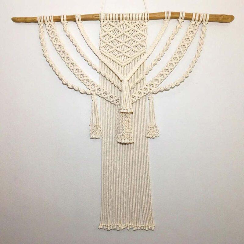 Colgante de Pared grande – 100% algodón – hecho a mano – Macrawoods