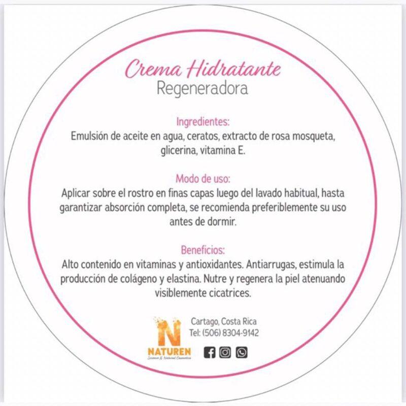 Crema Hidratante Regeneradora con Rosa Mosqueta – Naturen