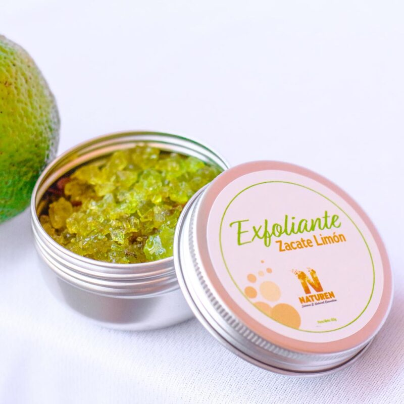 Exfoliante de Zacate Limón – reduce estrés – Naturen