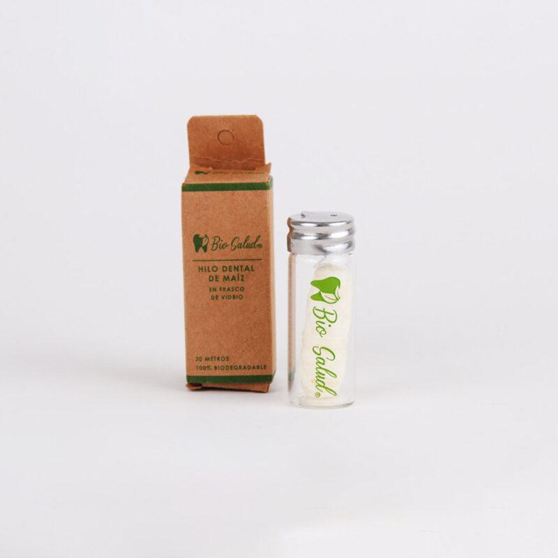 Hilo dental biodegradable en frasco de vidrio – Bio Salud