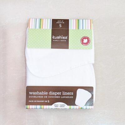 Set 5 Forros lavables para Pañales – 100% algodón