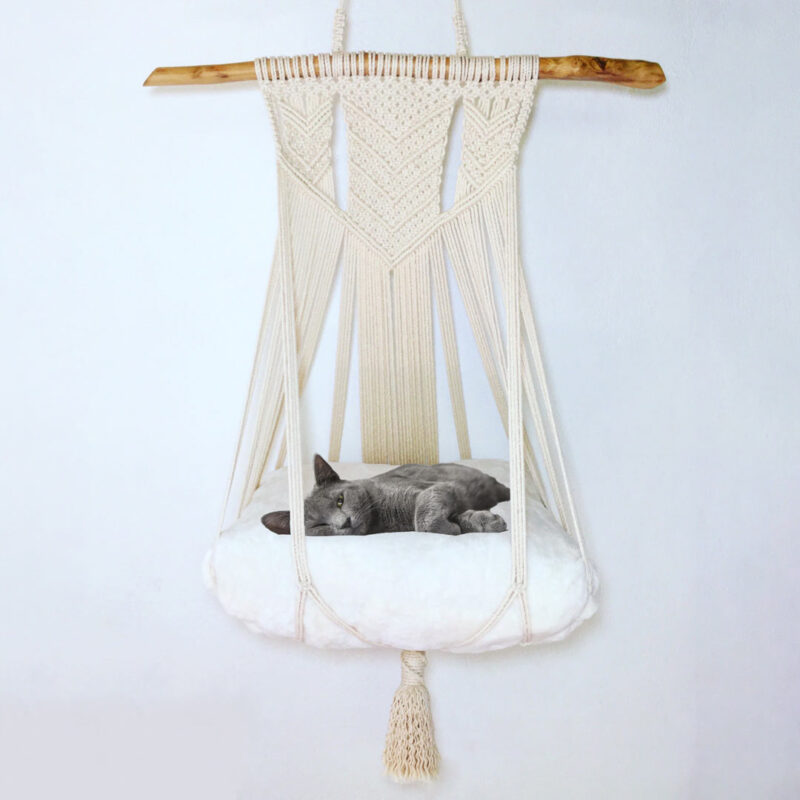 Cama de Gato – 100% algodón – hecho a mano – Macrawoods
