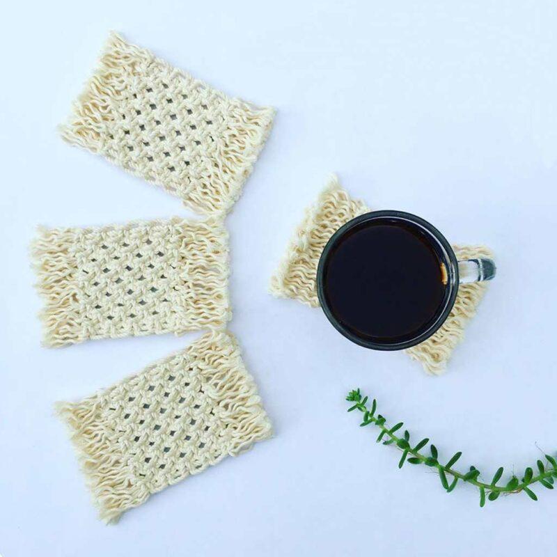 Posavasos – 100% algodón – hecho a mano – Macrawoods