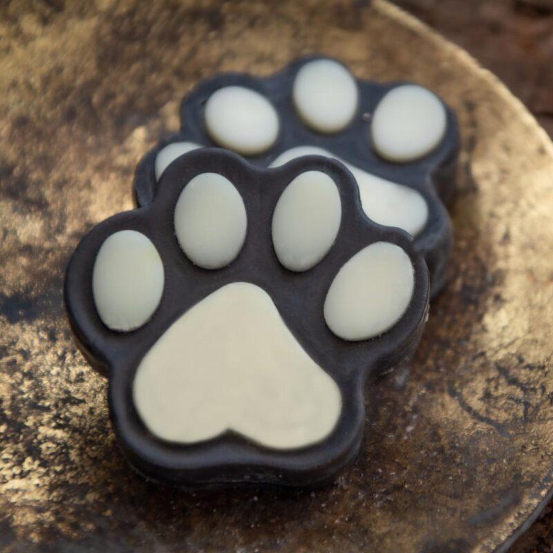 Jabones huellitas Lavanda, Cacao, Avena, Carbón Activado – 75g – Pata E' perro