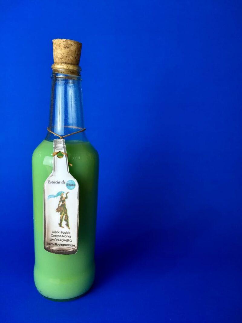 Jabón líquido biodegradable – Botellitas amorosas – 355ml – Esencia de Luna