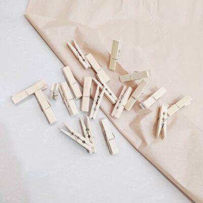 Prensas de Bambú para ropa o artesanía – Pack de 20