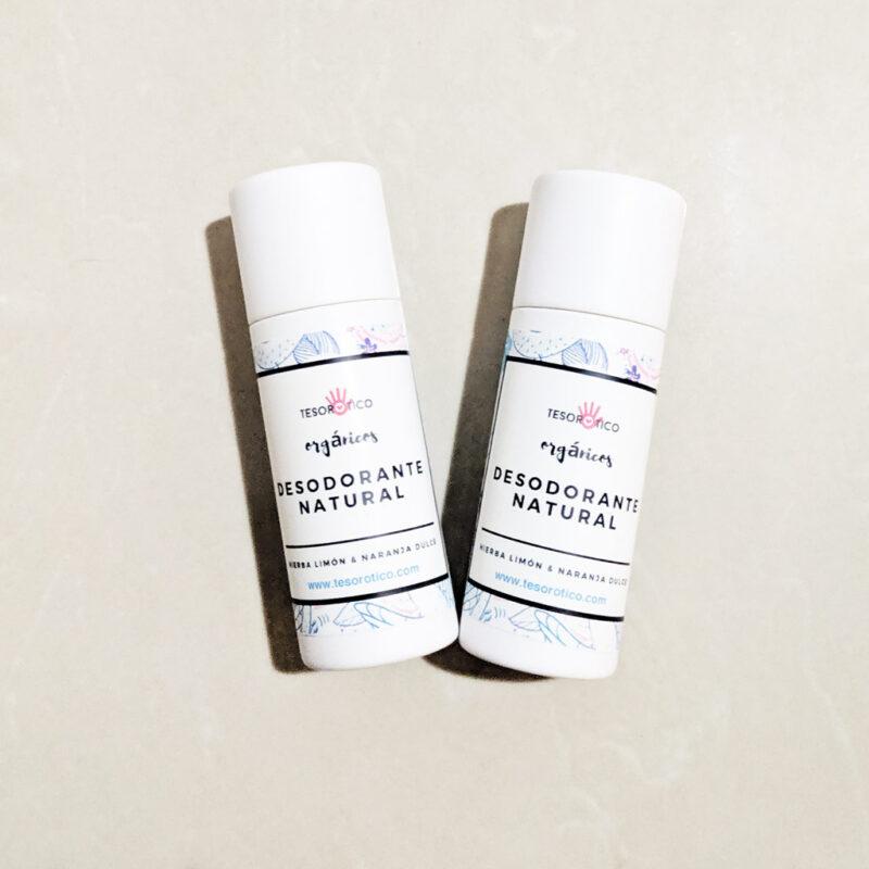 Desodorante en barra – 100% natural y orgánico – Hierba Limón y Naranja Dulce – 30g
