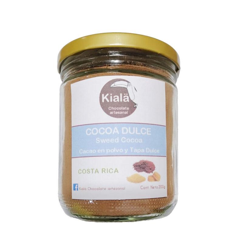 Cacao dulce – La mezcla perfecta con Tapa dulce en vidrio – 200g – Kialä
