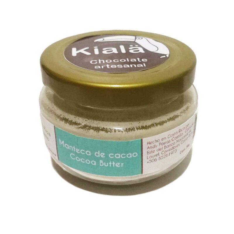 Manteca de cacao pura en vidrio – 70g – Kialä