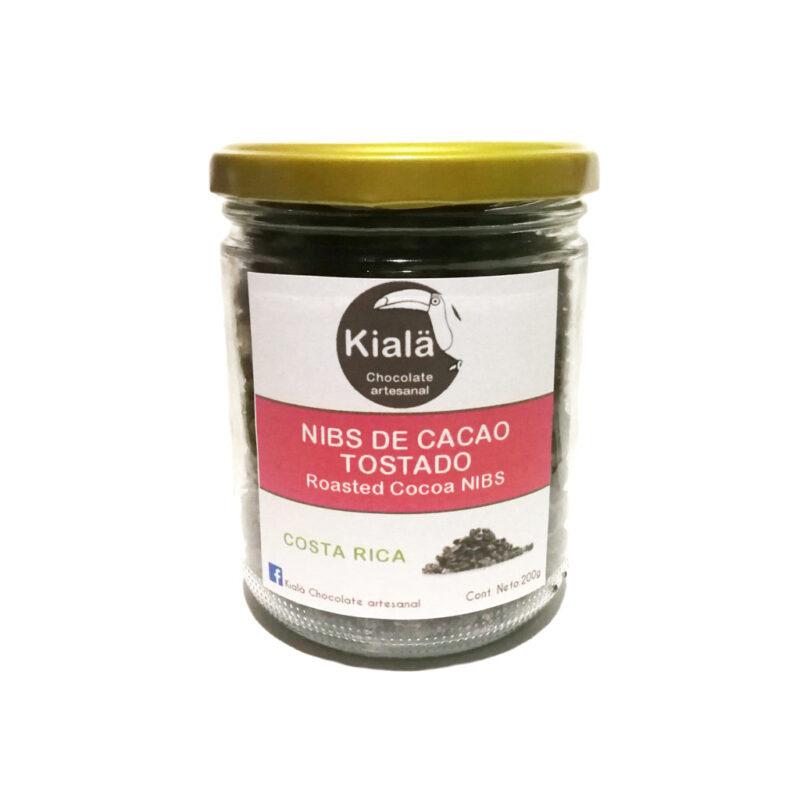 Nibs de cacao ecológico en vidrio- 200g – Kialä