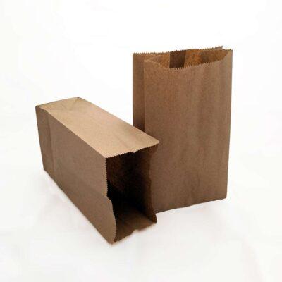 Bolsas de papel Kraft 10lb (17cm x 32cm x 11.5cm) – Paquete de 20 unidades