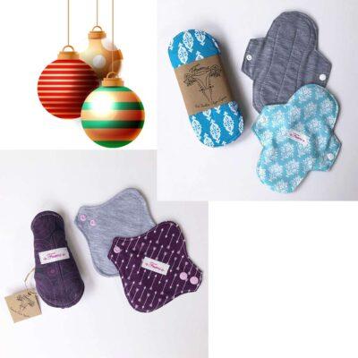 Kit Femenina – Navidad – Kit Protector diario y kit Toalla flujo ligero – 6 piezas