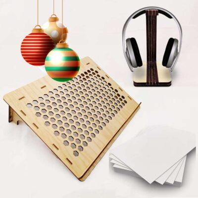 Kit Teletrabajo – Navidad – Mesita Computador, Estante Audífonos, Papel reciclado