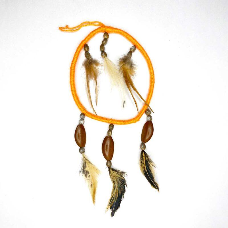 Móvil circular Plumas, Semillas y Mastate  – Artesanía Cabécar – Set de 2