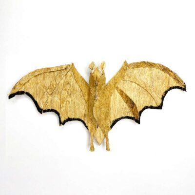 Murciélago alas abiertas – Artesanía Cabécar – Set de 2 – hecho de Corteza