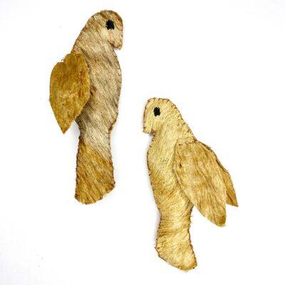 Perico – Artesanía Cabécar – Set de 2 – hecho de Corteza