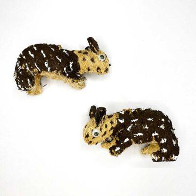 Tepezcuintle – Artesanía Cabécar – Set de 2 – hecho de Corteza