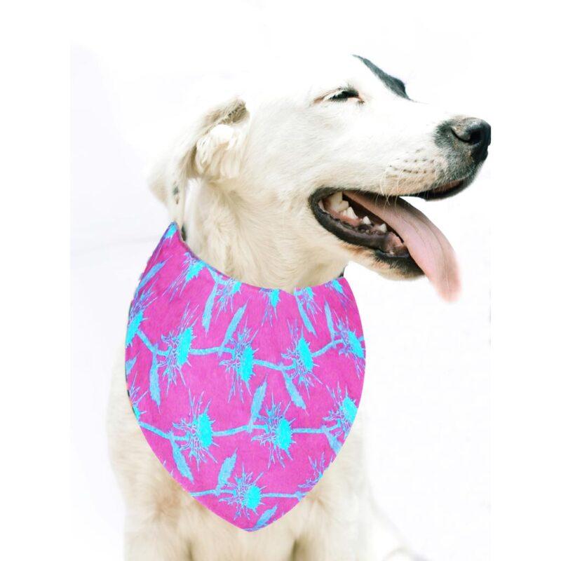 Bandana para Perro, tamaño Pequeño / Mediano – Morado – 100% Algodón