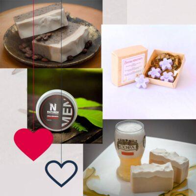 Día del Amor – Kit Pareja – 2 Jabones – Barras hidratantes – Crema facial