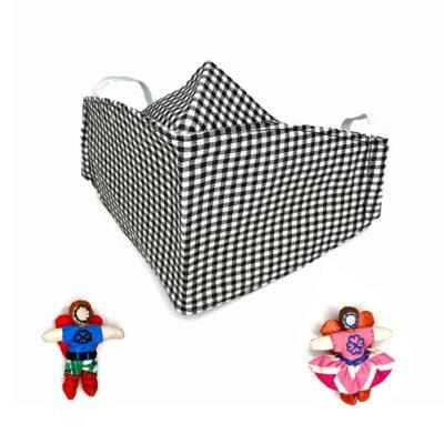 Mascarilla para adultos – de algodón con filtro – varios diseños – 4 Corazones – reutilizable