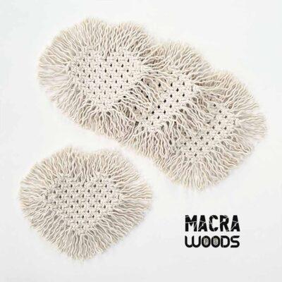 Posavasos de corazón  – 100% algodón – MacraWoods