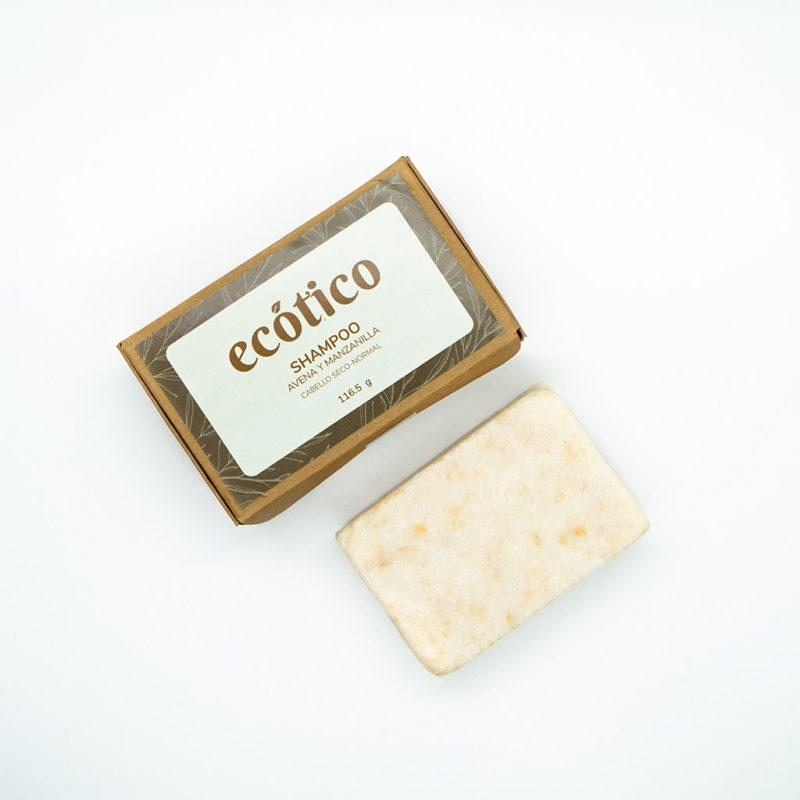 Shampoo sólido de avena y manzanilla – Cabello seco a normal – 115 g – Ecótico