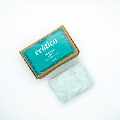 Shampoo sólido de menta – Cabello normal a graso – 115 g – Ecótico