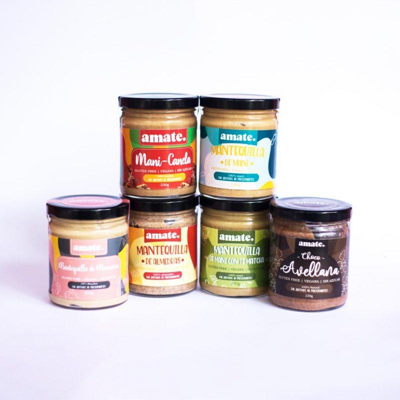 Mantequillas variadas a base de Semillas – libre de Gluten – 100% Veganas – Amate