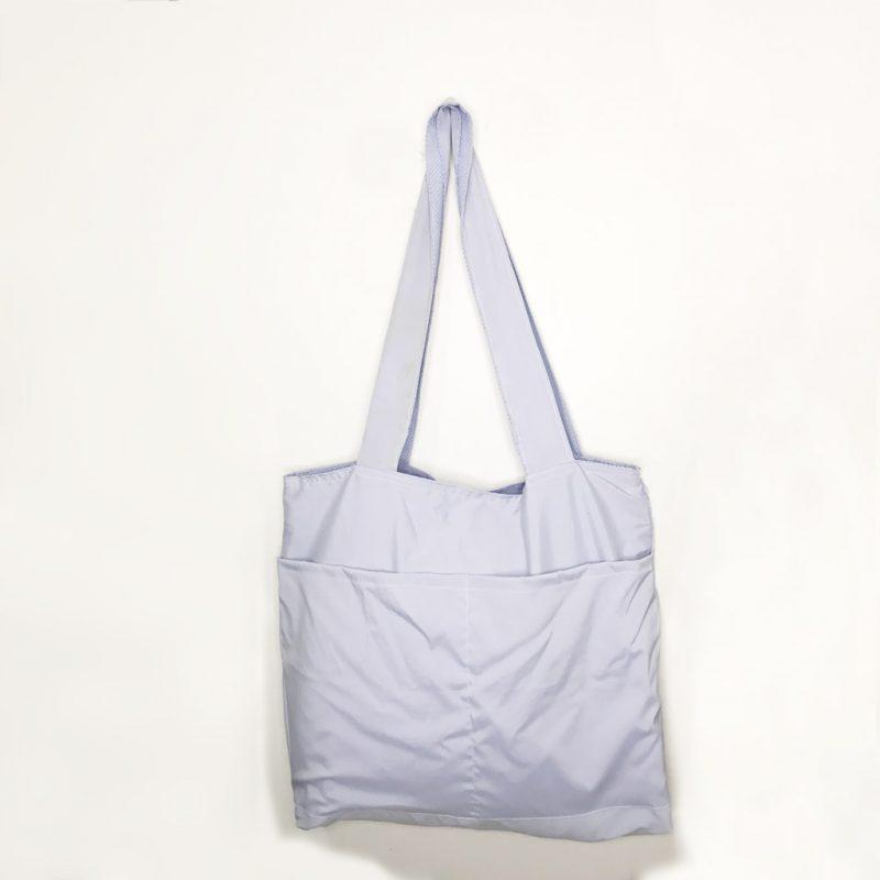 Bolso Reversible – Azul Claro – 100% Algodón – para Compras, Playa y más