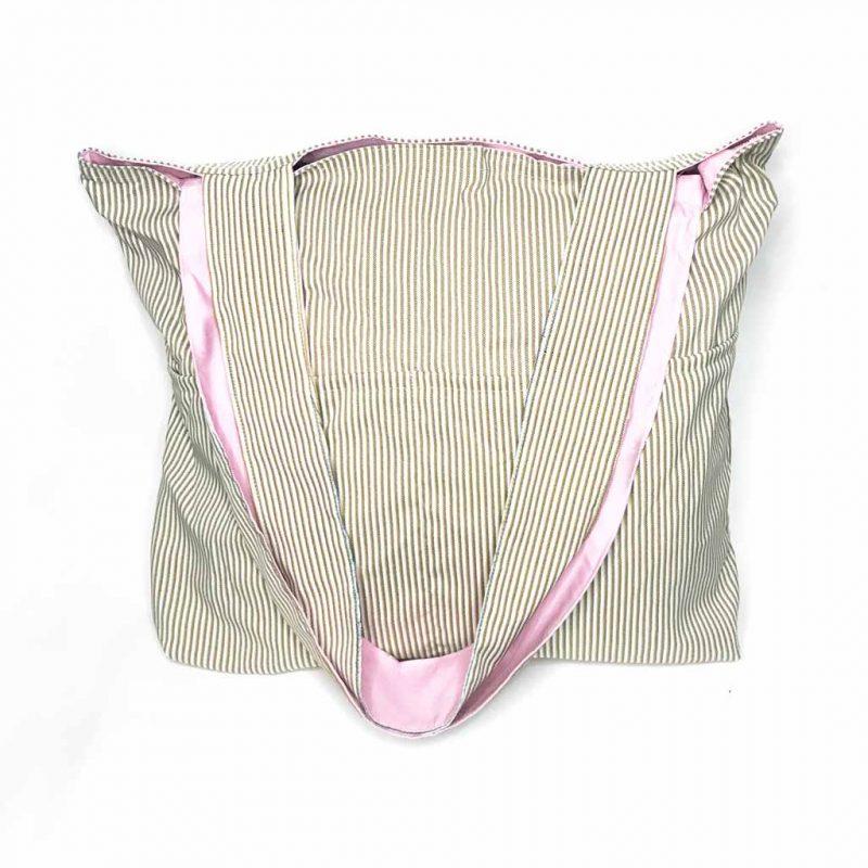 Bolso Reversible – Rosada – 100% Algodón – para Compras, Playa y más