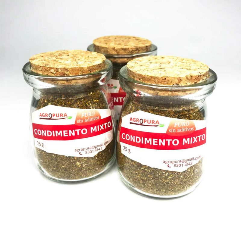Condimento Mixto – Puro en polvo – 30g – Agropura
