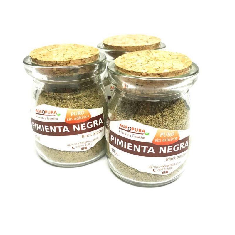 Pimienta negra – Especia pura en polvo – 40g – Agropura