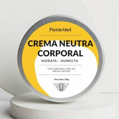 Crema corporal con cúrcuma y miel de abejas sin aguijón – 100g – Piel de Miel